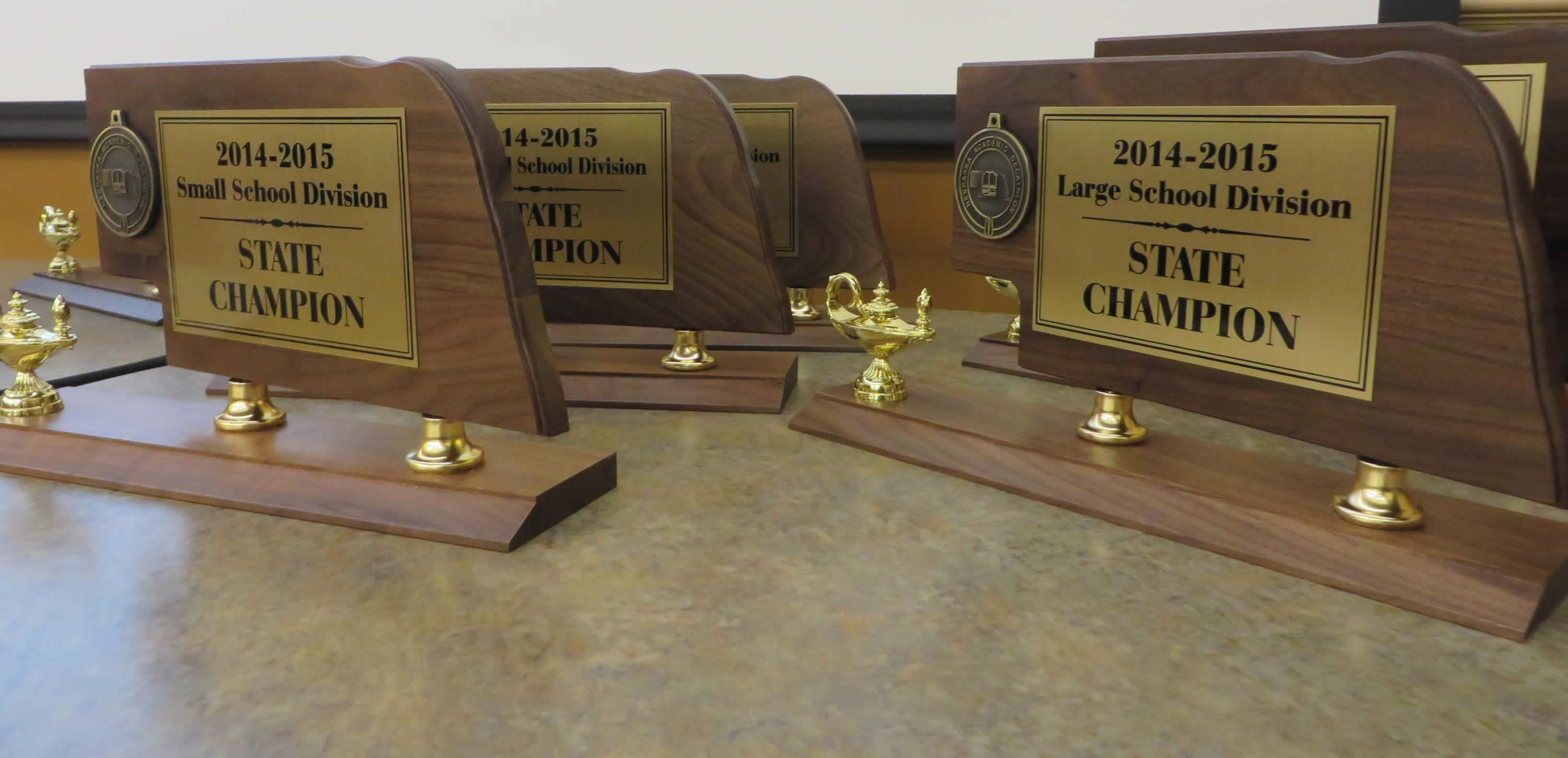 Nebraska Academic Decathlon trophies